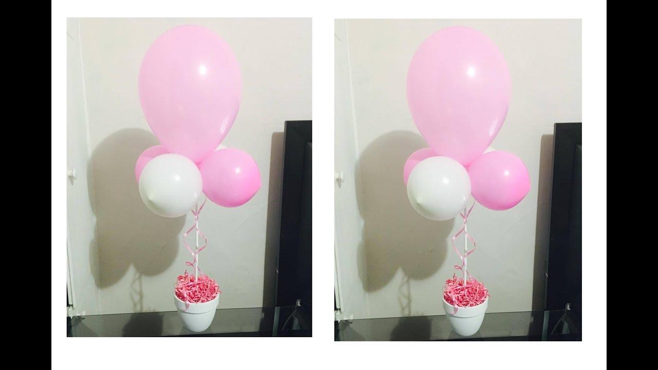 Adorno con globos centro de mesa youtube - Centros de mesa con globos ...