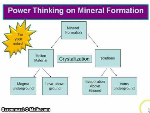 Mineral Formation Explanation Video