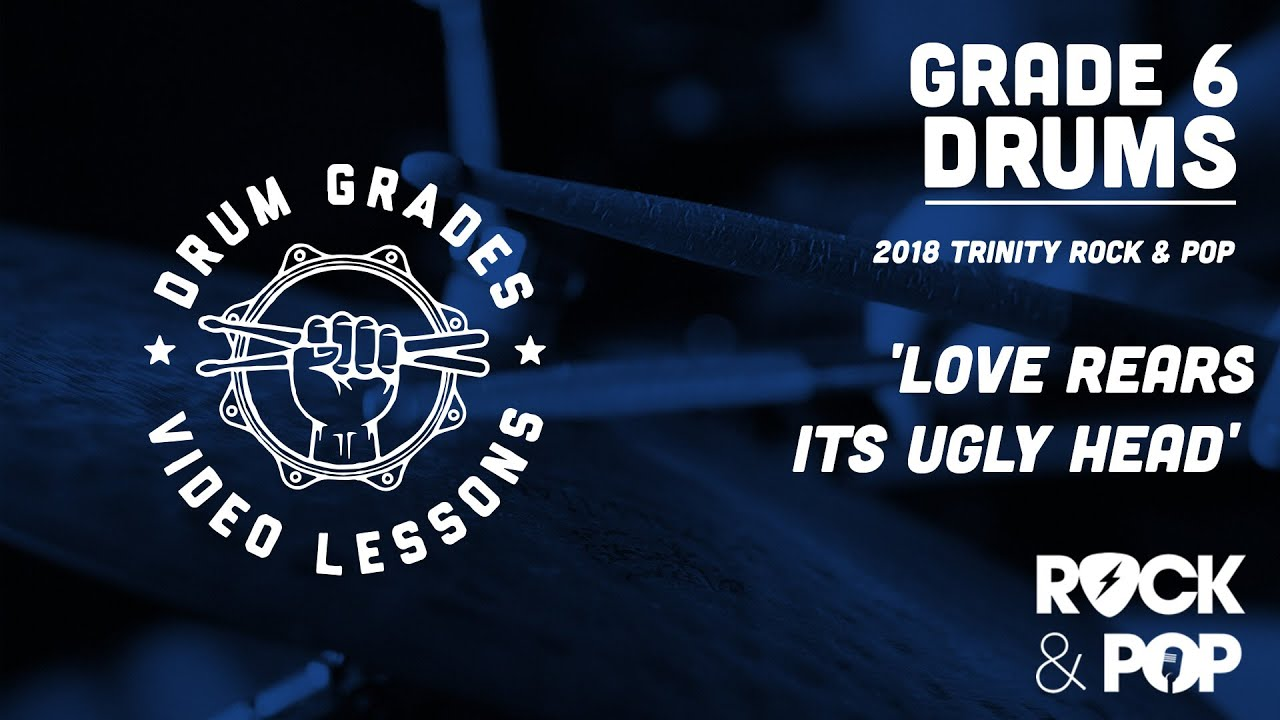 Download ★ LOVE REARS IT'S UGLY HEAD (Living Colour) ★ Trinity Rock & Pop 2018 GRADE 6 | PREVIEW Drum Lesson