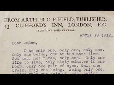 The best rejection letter ever!! (Gertrude Stein)