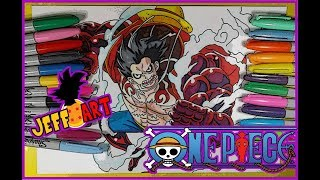 Como Dibujo a Luffy de One Piece/ How To Draw Luff of One piece/ Jeff Art