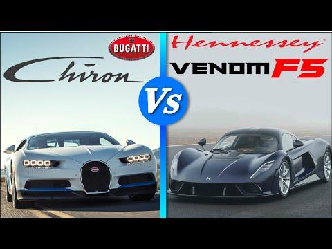 Car comparison| Bugatti chiron vs Hennessey venom f5 specs, engine sound, performance and more