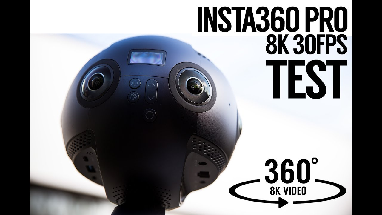 Insta360 PRO 8K 360 Test Footage - Review Optical Flow Stitching, Image and  lens quality,