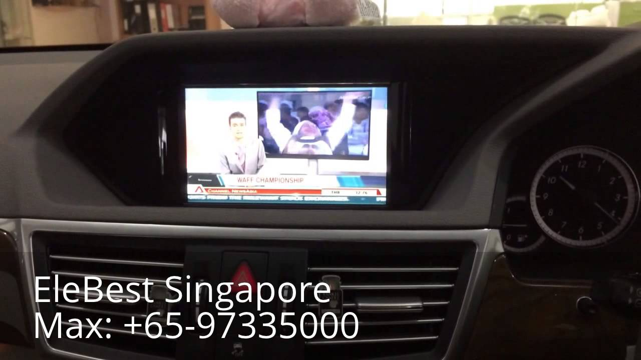 Rear seat entertainment system for mercedes benz youtube for Mercedes benz rear seat entertainment system