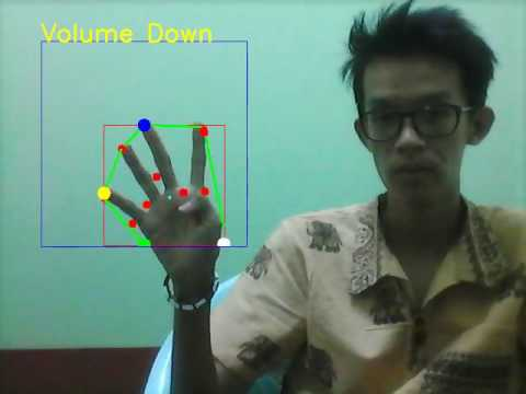 Hand gesture to control music with python and opencv demo