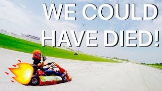 WE COULD HAVE DIED - 65mph GO KARTS WITH TIO