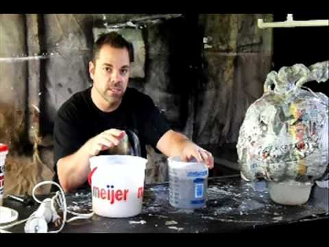 Making paper clay -- Part 5 of 8 - Paper Mache Pumpkin Head How-to