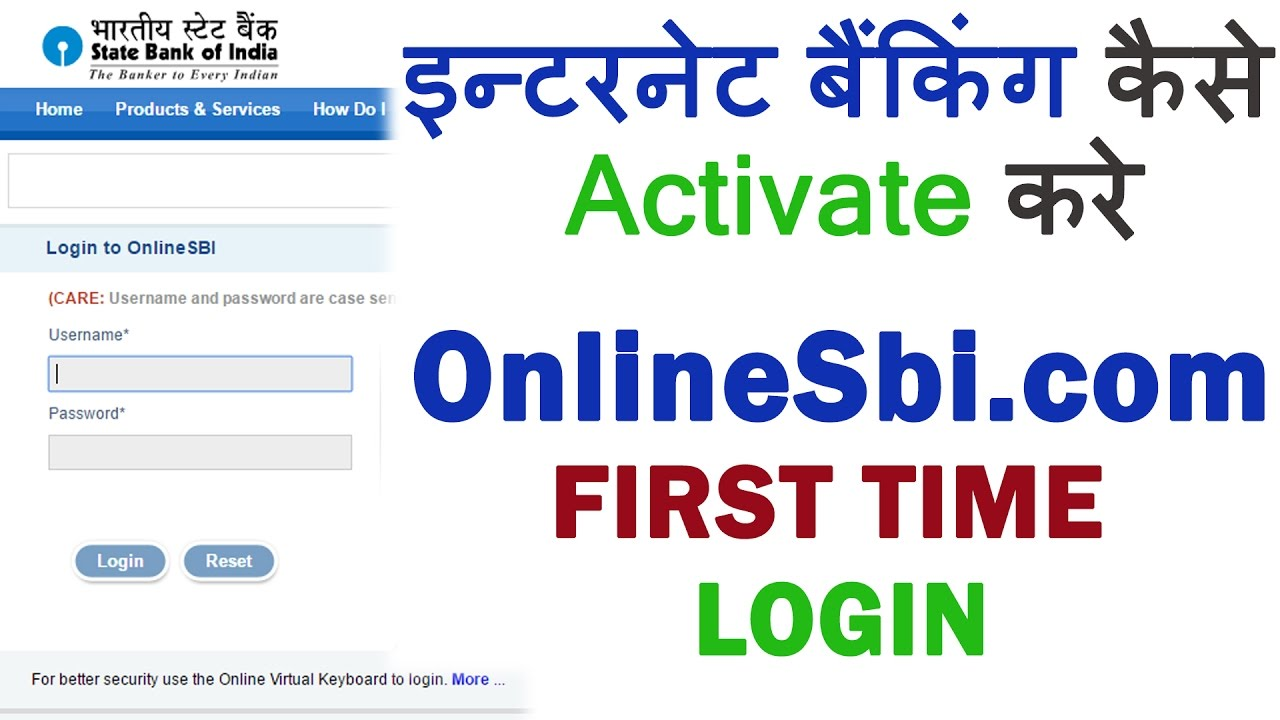www onlinesbi com internet banking activation
