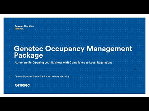 Genetec Occupancy Management Package Webinar