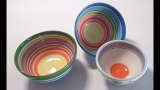 43. How to make ceramic bowl- slab method - without a pottery wheel-step by  step in real time