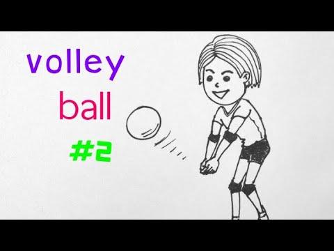 วาดรูป เล่นกีฬา วอลเล่ย์บอล ( 2 ) ง่ายๆ