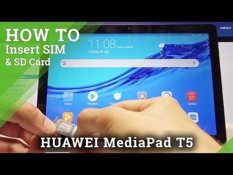 How To Insert SIM & SD Card In HUAWEI MediaPad T5 - SIM And SD Installation