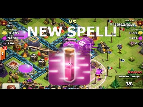 Clash Of Clans - NEW HASTE SPELL NEW DARK ELIXIR SPELL!