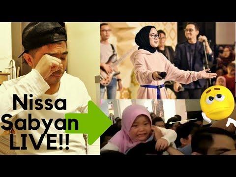 Nissa Sabyan Live! BIKIN HARU MOMEN NISSA SABYAN PELUK ANAK KECIL YANG MENANGIS INGIN BERTEMU SABYAN