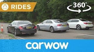 BMW 7 Series vs Mercedes S-Class vs Audi A8 360 DRAG RACE 2017   Passenger Rides
