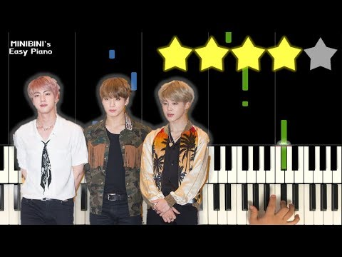 BTS (방탄소년단) - Dream Glow (BTS World OST Pt.1) Feat. Charli XCX 《MINIBINI EASY PIANO ♪》 ★★★★☆