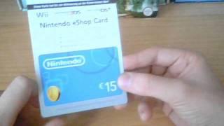 Unboxing - Nintendo eShop Card (15 Euro Guthaben = 1500 Nintendo Points!)