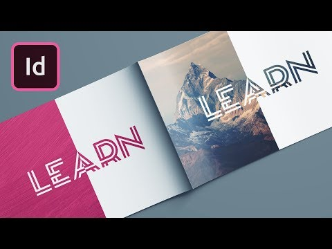 Masking With Exclude Overlap InDesign Tutorial