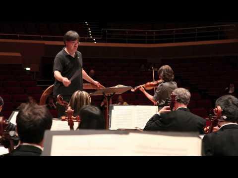 Rehearsing Sibelius in Munich, 05/14/11