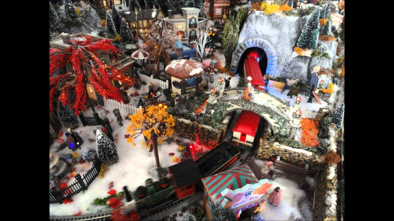 Village miniature de no l 2012 dept56 luville fait par nathalie l youtube - Village de noel miniature ...