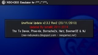 How to get a NEO GEO emulator on PSP 1000 (Phat) & 2000 (Slim) with CFW (Custom Firmware)