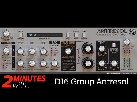 D16 Group Antresol VST/AU plugin in action
