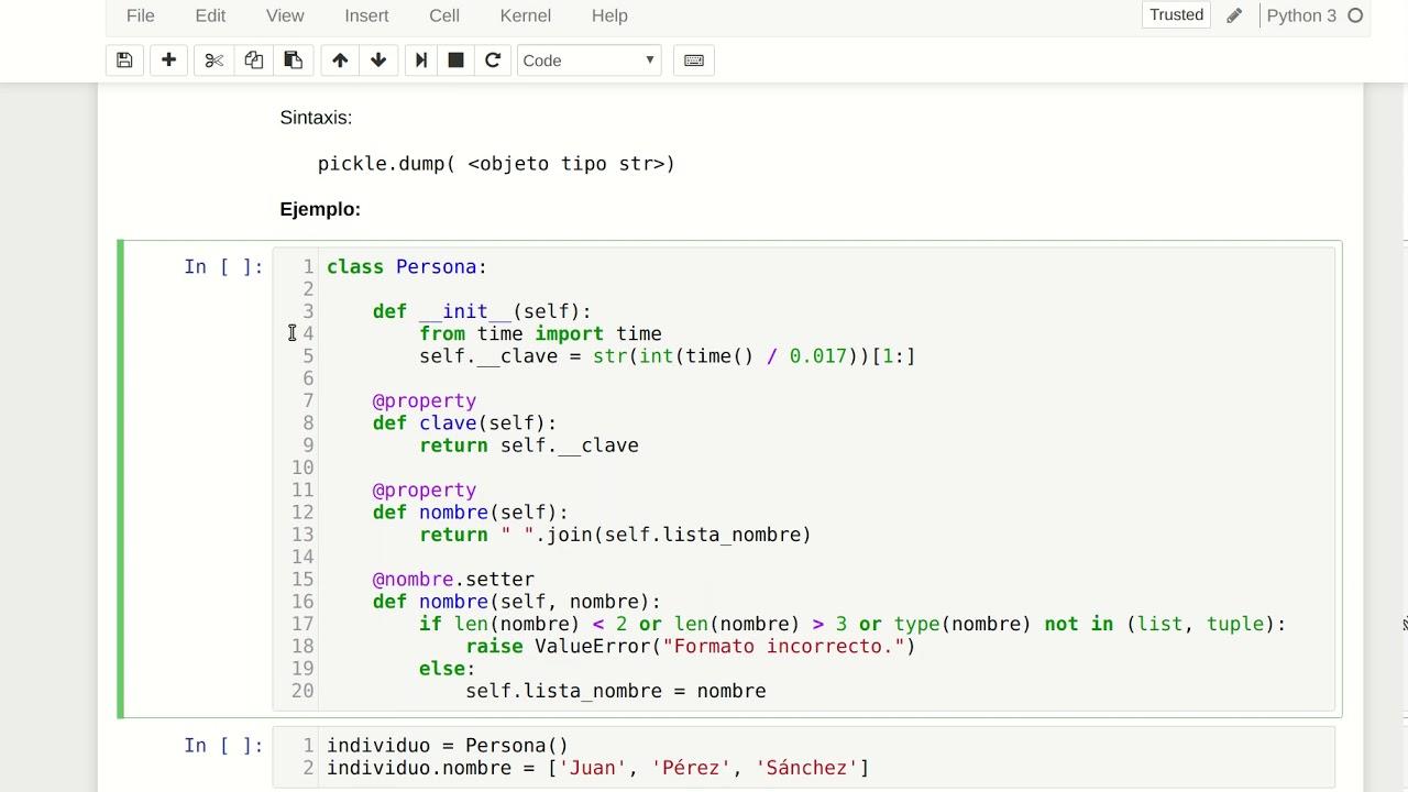 Persistencia y serialización en Python 3 - YouTube