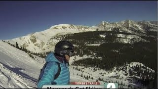 Tomer's Trails - Skiing Monarch Mountain - Cat skiing fresh powder in the Monarch Ski Area, and try the Pick-A-Peak locator!