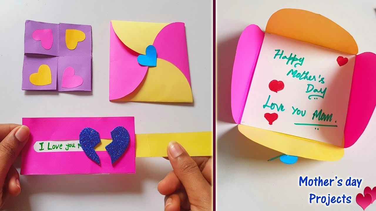 4 Mini Projects For Mother S Day Easy Simple Paper Crafts Youtube