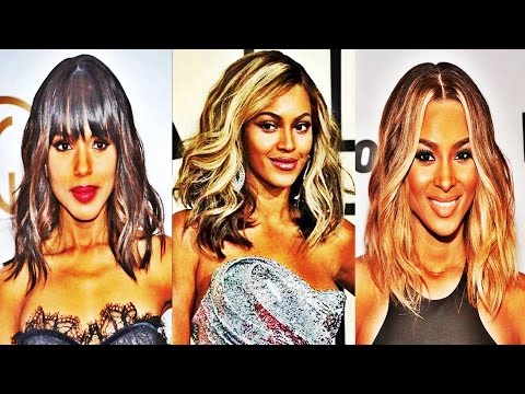 medium-length-straight-hairstyles-with-side-bangs-for-black-women