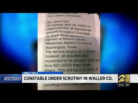 Constable Under Scrutiny In Waller County