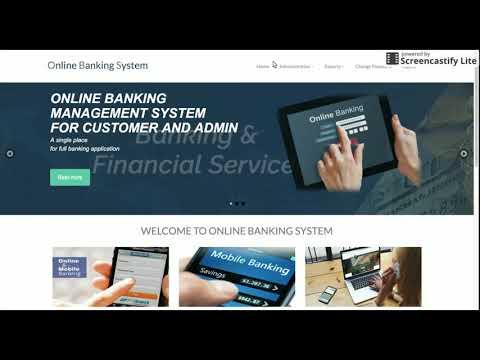 PHP and MySQL Internet Banking System