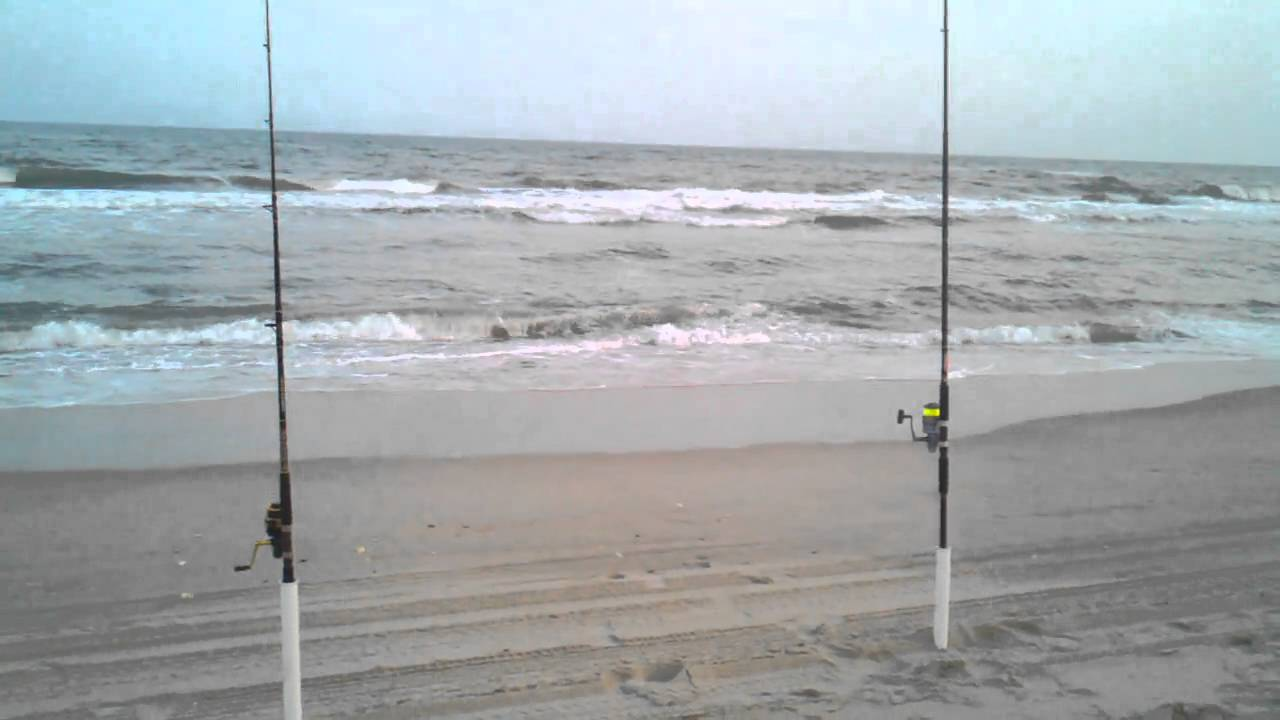 Surf fishing in the outer banks youtube for Outer banks surf fishing