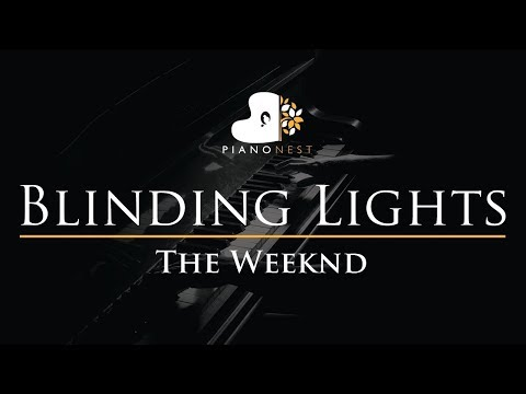 The Weeknd - Blinding Lights - Piano Karaoke Instrumental Cover With Lyrics