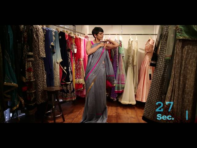How to Drape A Saree in less than 90 seconds by Mandira Bedi