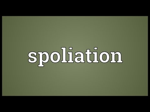 Spoliation Meaning