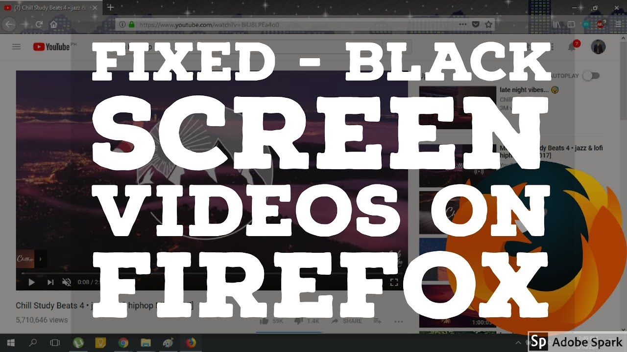 FIXED - Black Screen Videos on Mozilla Firefox