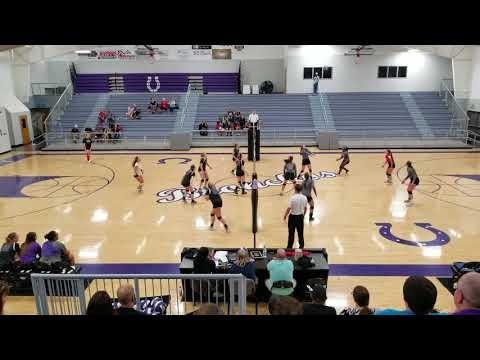 Bethany varsity volleyball vs Oklahoma Bible Academy 2nd set