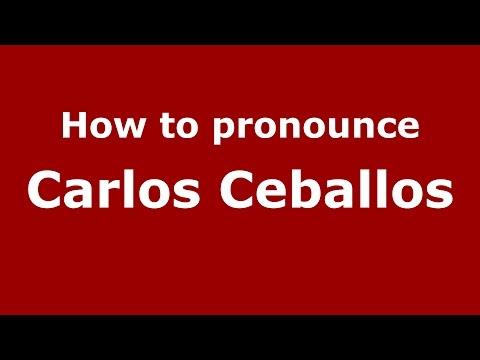 How to pronounce Carlos Ceballos (Spanish/Argentina) - PronounceNames.com