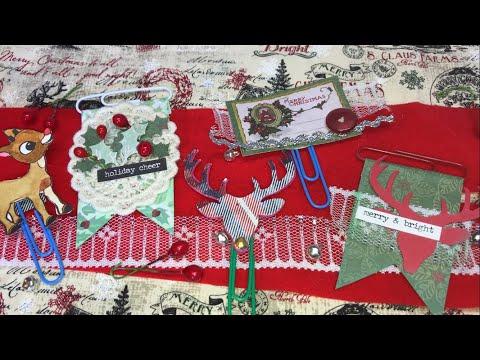 Let's make Christmas embellished paper clips