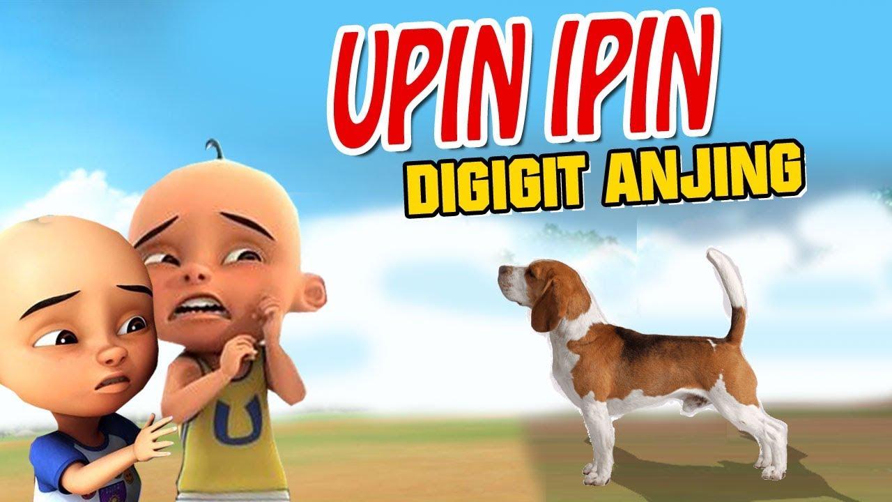 Upin ipin digigit Anjing , Upin sedih GTA Lucu - YouTube