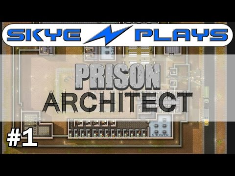Prison Architect Part 1 ►Starting a HUGE Prison!◀ Gameplay/Tutorial (Alpha 34/35)
