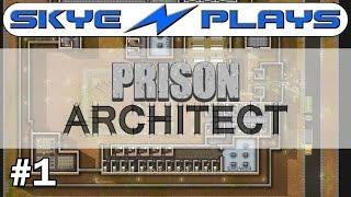 Prison Architect Part 1 ►Starting a HUGE Prison!◀ Gameplay/Tutorial (Alpha 34/35)