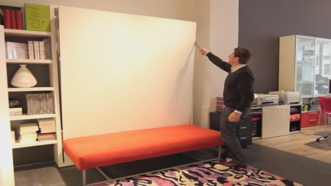 armoire lit escamotable ulysse sofa bimodal par la maison du convertible youtube. Black Bedroom Furniture Sets. Home Design Ideas