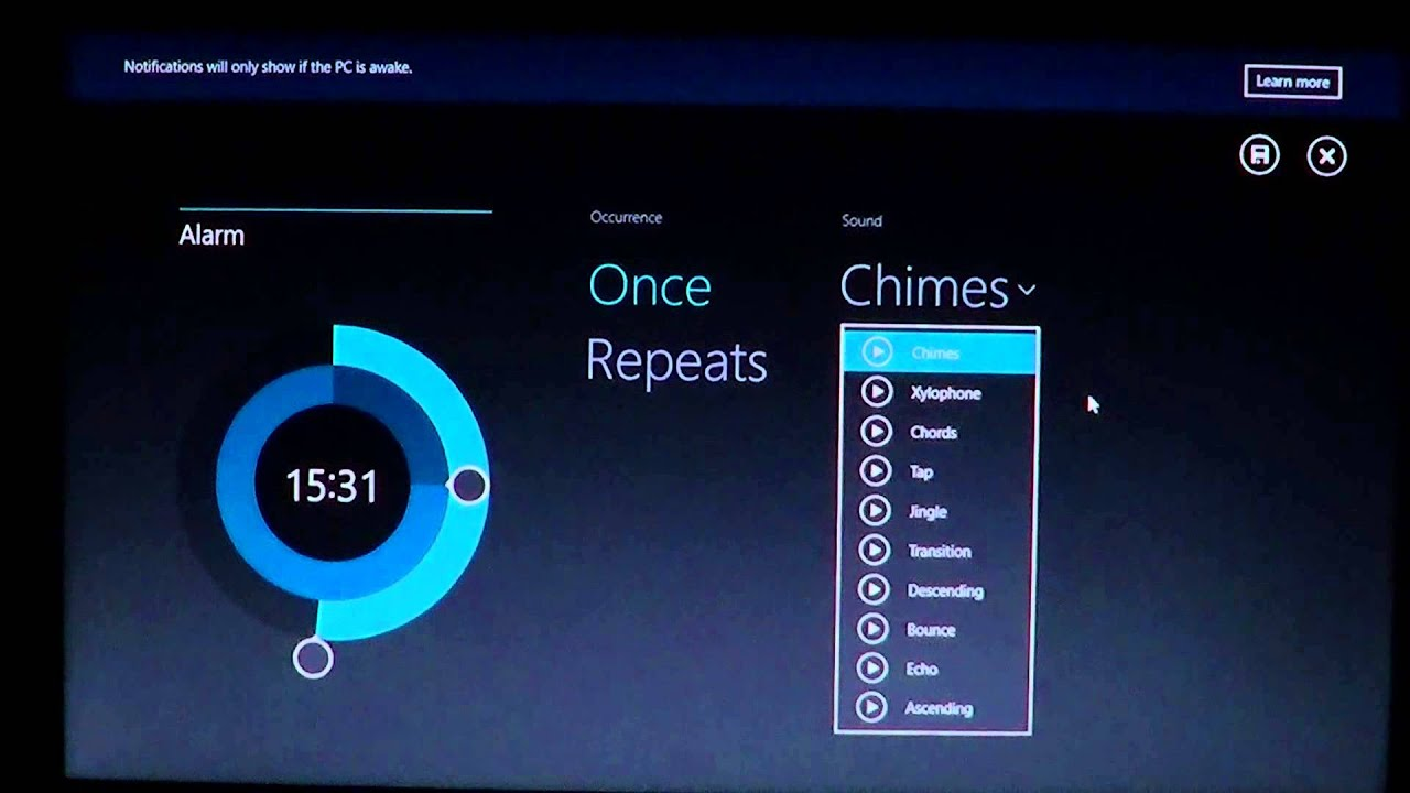 Windows 8 1 New Windows Alarm App