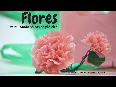 Cómo Hacer Preciosas Flores Reciclando Bolsas De Plástico