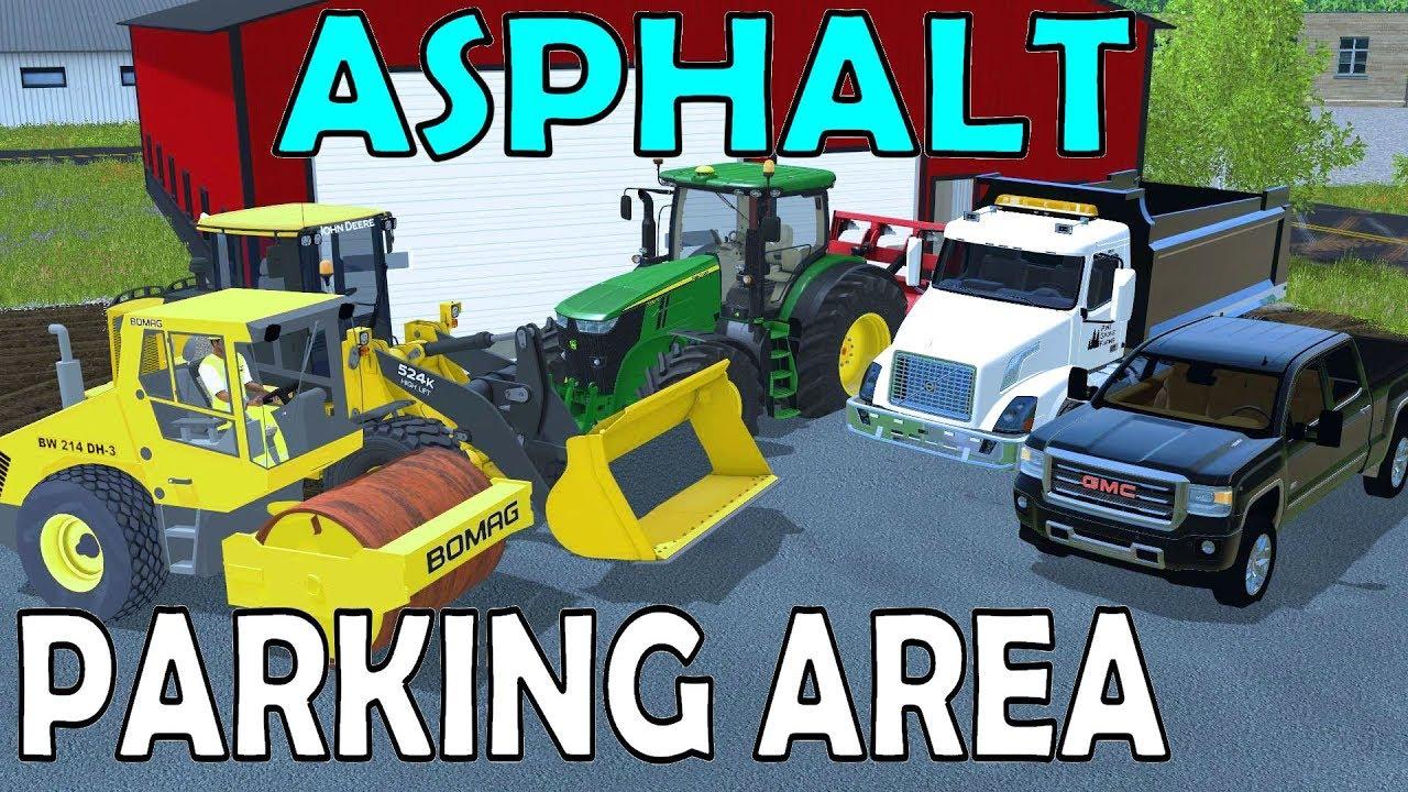 Farming Simulator 17 Paving Lawn Care Shop Parking Area