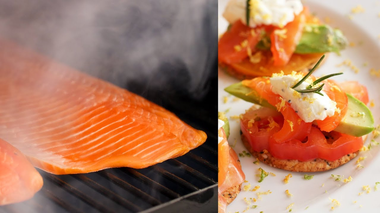 How To Cold Smoke Salmon Smoked Salmon Crackers Recipe Bbqguys Com Traeger Pellet Grill