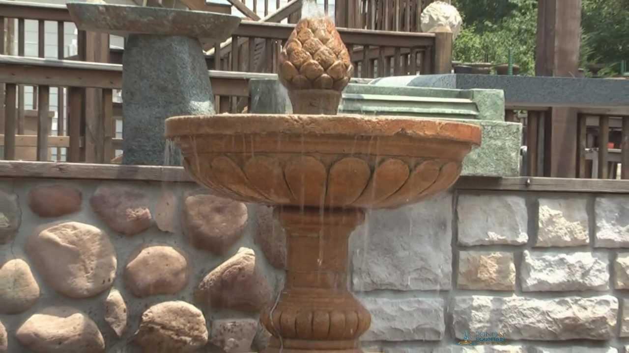 mediterranean two tier fountain als garden art lg134 ft2 - Als Garden Art