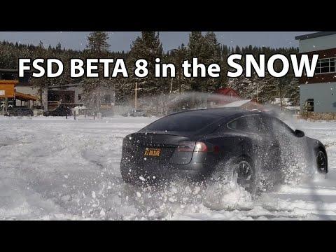 Tesla FSD in the snow (Beta 8)
